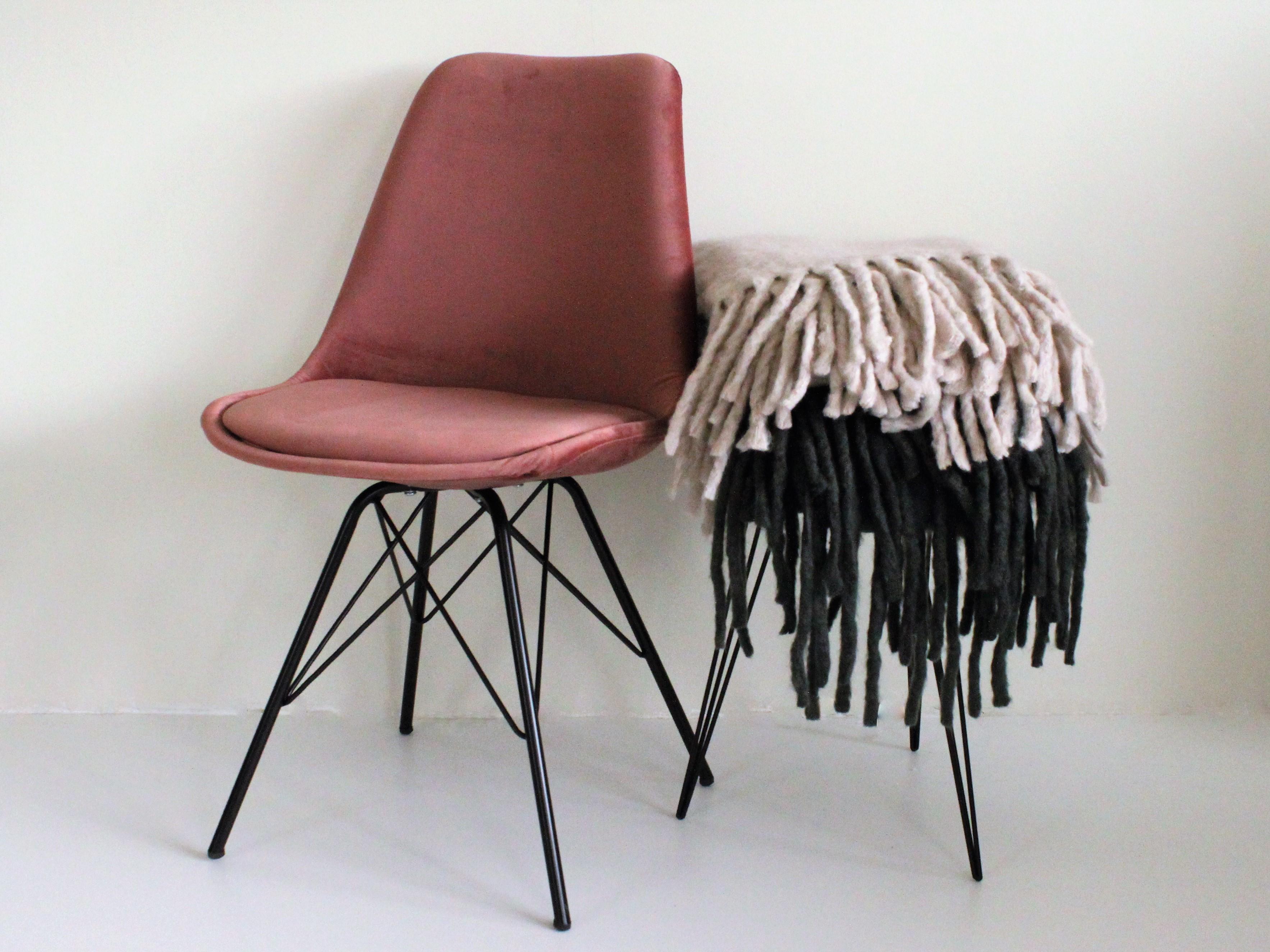 Velvet stoel roze