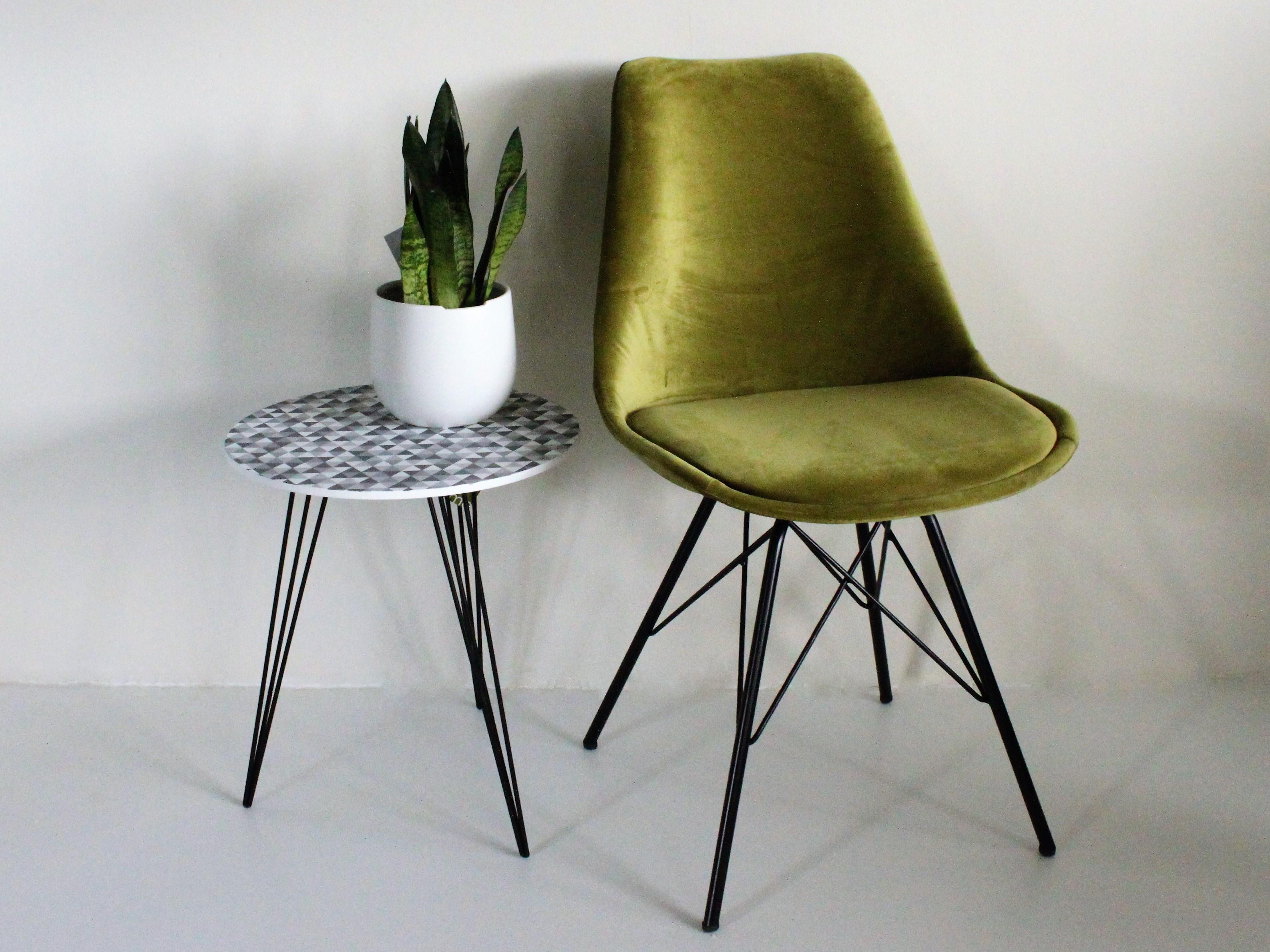 Velvet stoel groen