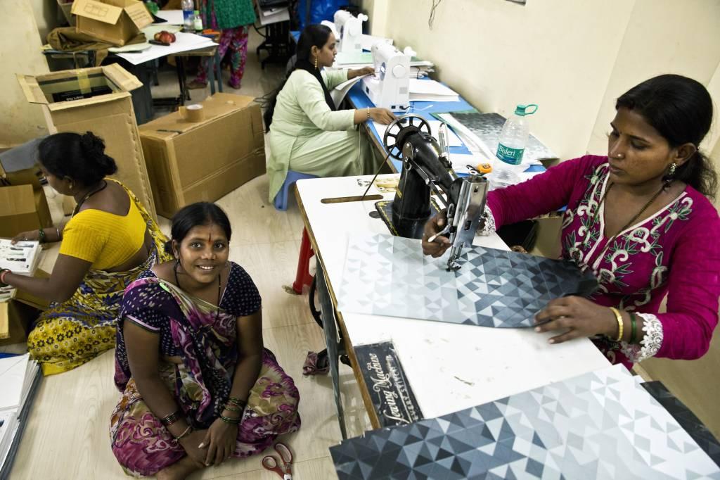 vrouwen van de Pardeshi-gemeenschap