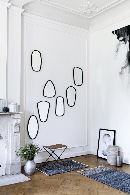 """spiegel """"Art"""" Broste Copenhagen - zwart"""