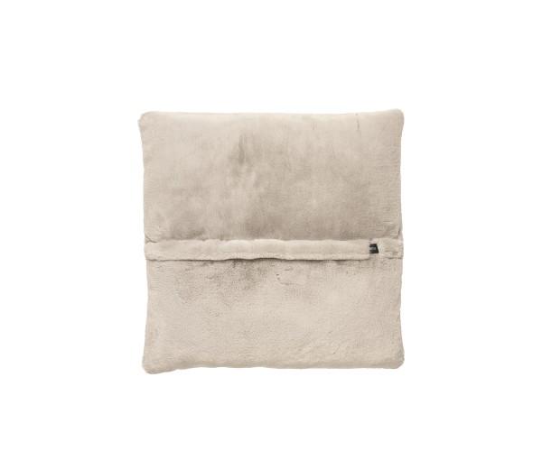 jumbo pillow faux rabbit fur beige