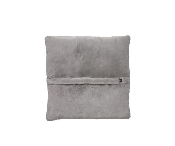 jumbo pillow faux rabbit fur grey